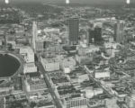 Aerial View of Downtown Columbus Looking Northeast