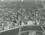 Aerial View of Downtown Columbus Looking East