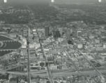 Aerial View of Downtown Columbus Looking North