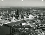 Aerial View Looking East Over Downtown Columbus