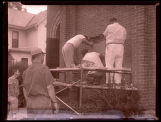 Peace Lutheran Church cornerstone removal photograph