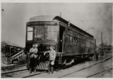 Cincinnati, Georgetown and Portsmouth Railroad car #205 and crew