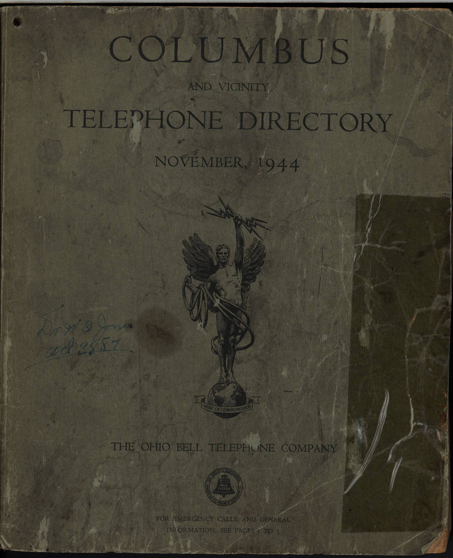 1944 Columbus Phone Book 001 City Directory Collection