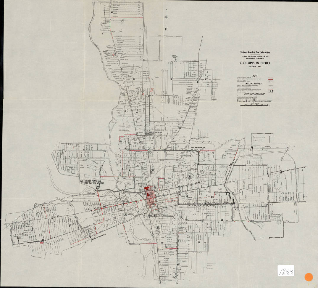 1933 Fire Underwriters Map of Columbus - Columbus and Ohio Map ...
