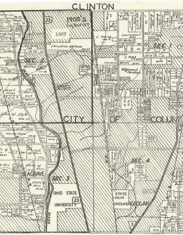 1927 Map Of Clinton Township Franklin County Ohio Columbus And