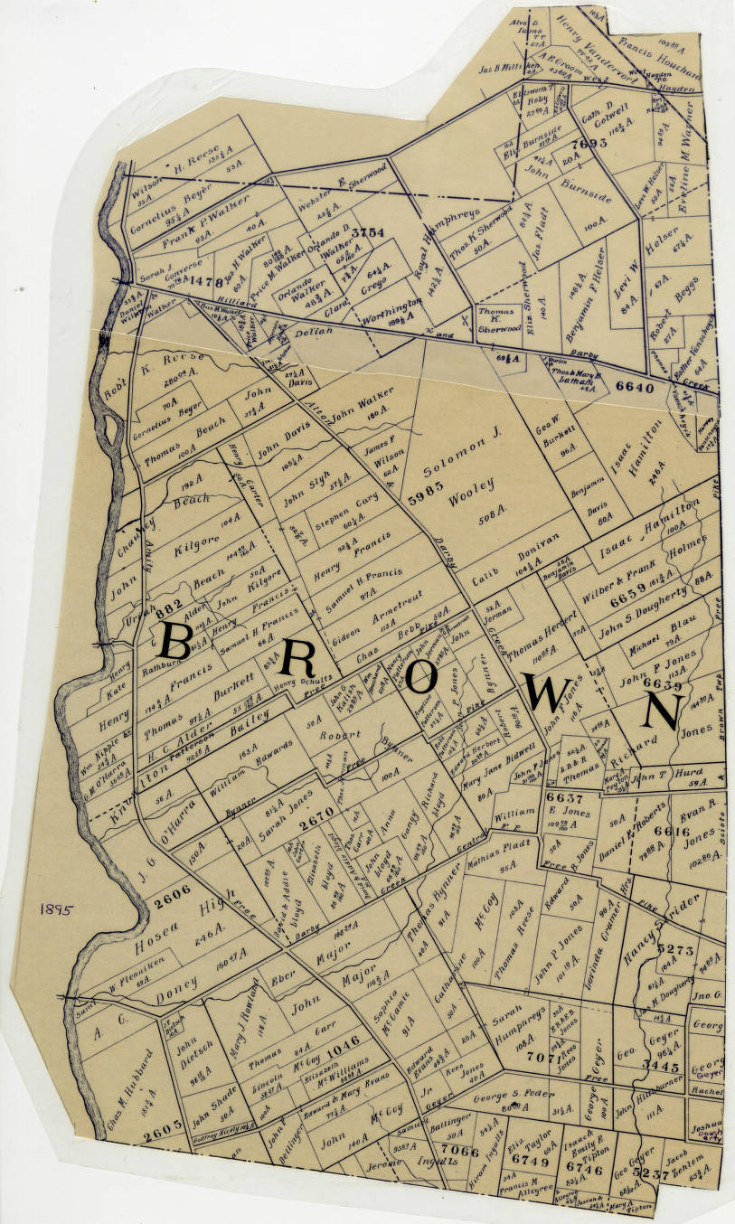 1895 Map Of Brown Township Franklin County Ohio Columbus And