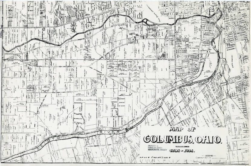 1914 Map Of Perry Township Franklin County Ohio Columbus And