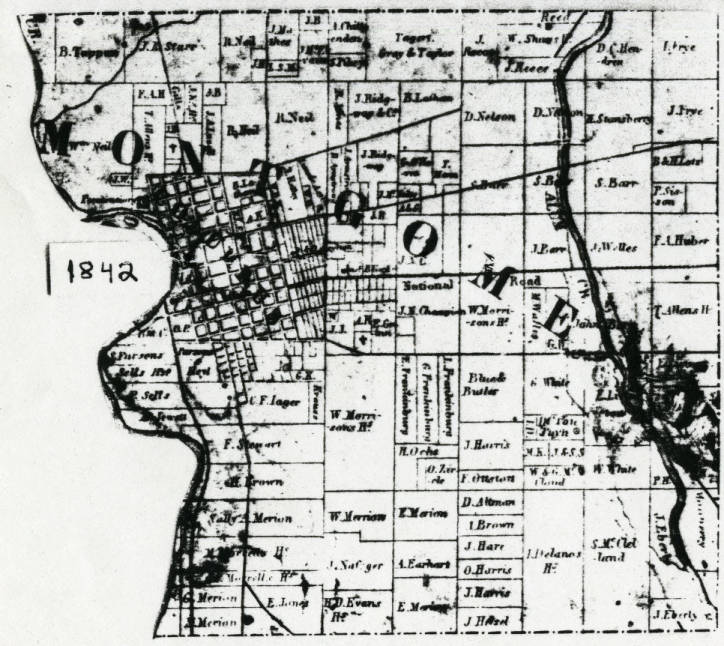 1842 Property Ownership Plat Map Of Montgomery Township Franklin