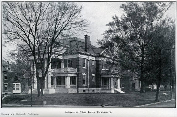 Residence Of Alfred Linten Sic Columbus Ohio