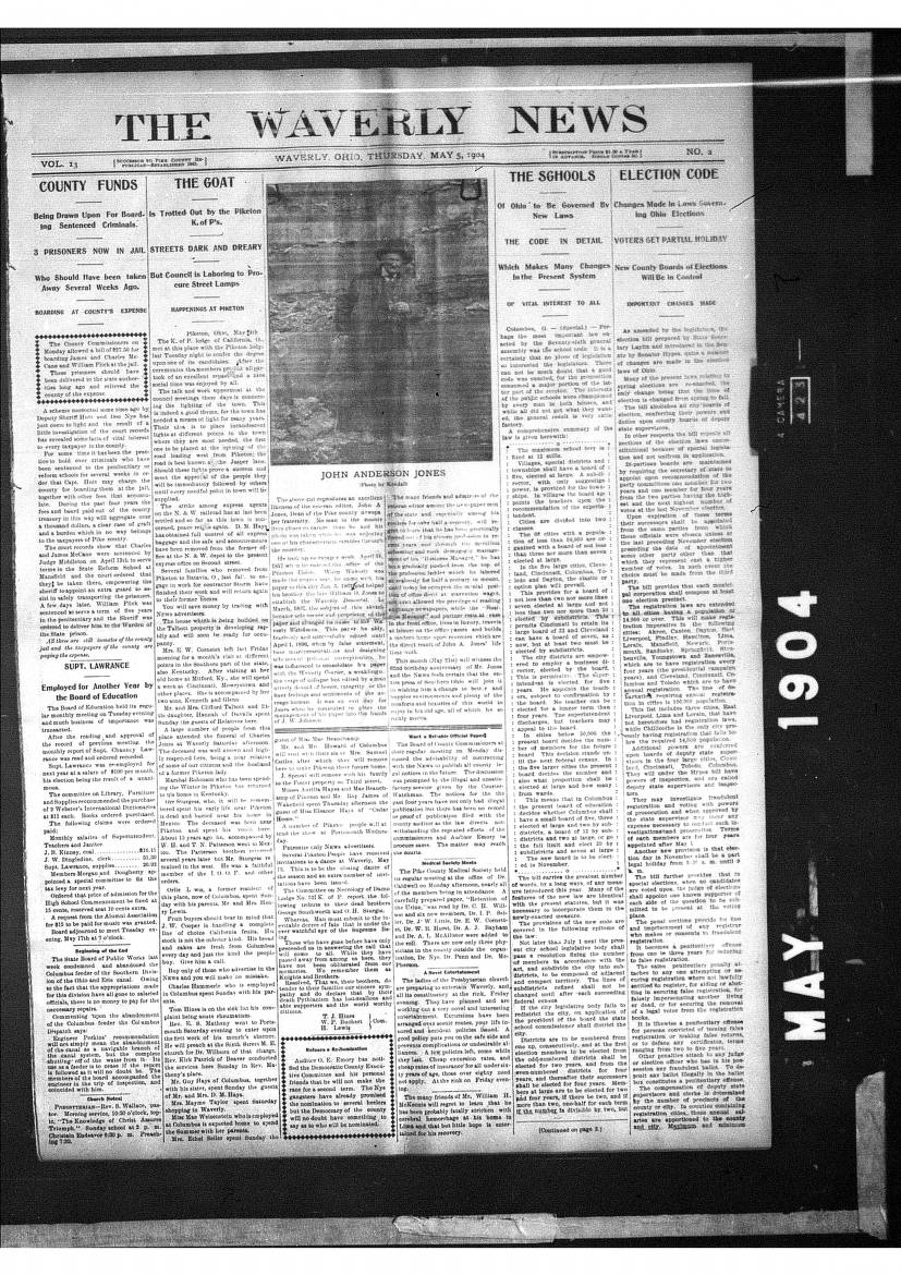 Waverly News 1902-07-03 to 1904-09-290817 - Garnet A  Wilson Public